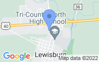 Map of Lewisburg OH