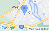 Map of Westville NJ
