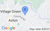 Map of Aston PA