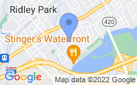 Map of Ridley Park PA