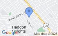 Map of Haddon Heights NJ