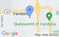 Map of Vandalia OH