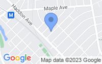 Map of Haddonfield NJ