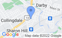 Map of Sharon Hill PA