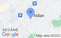 Map of Aldan PA
