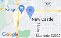 Map of New Castle IN