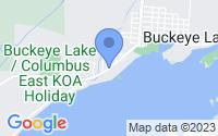 Map of Buckeye Lake OH