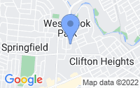 Map of Clifton Heights PA