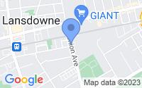 Map of Lansdowne PA