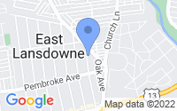 Map of East Lansdowne PA