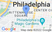 Map of Philadelphia PA