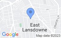 Map of East Lansdowne PA