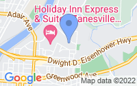 Map of Zanesville OH