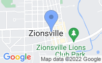 Map of Zionsville IN