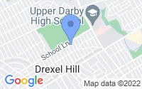Map of Upper Darby PA