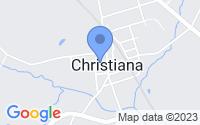 Map of Christiana PA