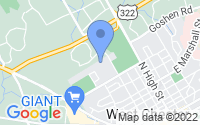 Map of West Chester PA