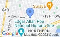 Map of Philadelphia PA