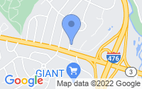 Map of Broomall PA