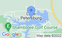 Map of Petersburg IL
