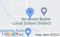Map of Arcanum OH