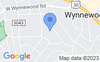 Map of Wynnewood PA