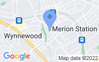Map of Merion Station PA