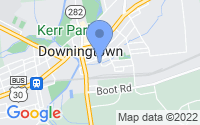 Map of Downingtown PA