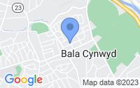 Map of Bala Cynwyd PA
