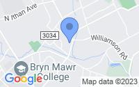 Map of Bryn Mawr PA