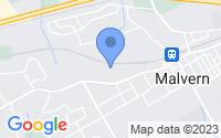 Map of Malvern PA