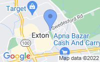 Map of Exton PA