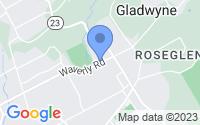 Map of Gladwyne PA