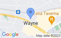 Map of Wayne PA
