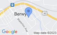Map of Berwyn PA