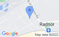 Map of Radnor PA