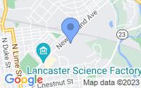 Map of Lancaster PA