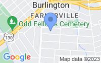 Map of Burlington NJ