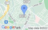 Map of Elkins Park PA