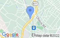 Map of Elkins Park PA
