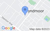 Map of Wyndmoor PA