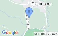 Map of Glenmoore PA