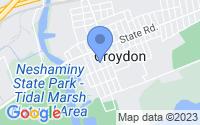 Map of Croydon PA