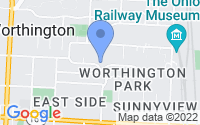 Map of Worthington OH