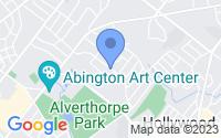Map of Jenkintown PA