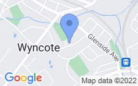 Map of Wyncote PA