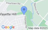 Map of Lafayette Hill PA