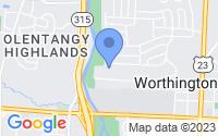 Map of Worthington OH