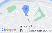 Map of King of Prussia PA