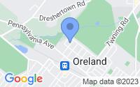 Map of Oreland PA